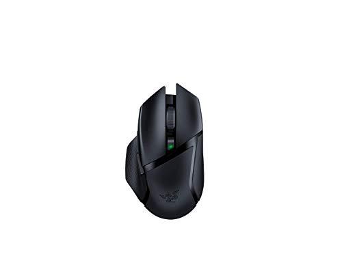 Razer Basilisk X HyperSpeed - Kabellose Gaming Maus mit bis zu 450 Stunden Akku für PC / Mac (Optischer 5G Sensor, mechanische Switches, 6 programmierbare Tasten) Schwarz