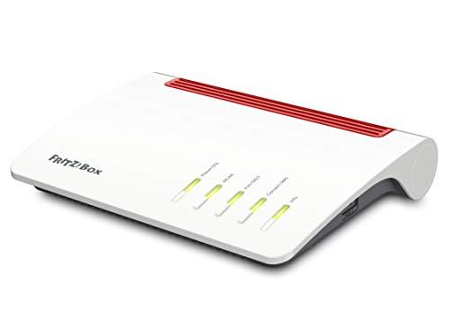 AVM FRITZ!Box 7590 internationale Version,(WLAN AC+N Router, DSL/VDSL,1.733 MBit/s (5GHz) & 800 MBit/s (2,4 GHz), bis zu 300 MBit/s, WLAN Mesh, Media Server, geeignet für Italien & Spanien)