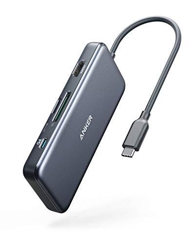 Anker USB C Hub, PowerExpand+ 7-in-1 USB C Adapter, mit 4K HDMI, Stromversorgung, USB-C-Datenanschluss, microSD- und SD-Kartenleser, 2 USB-3.0-Anschlüsse, für MacBook Pro, Pixelbook, XPS und mehr
