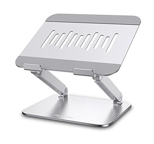 Laptop Ständer, Faltbarer Laptophalter, Verstellbarer Laptop Halterung mit Wärmeentlüftung, Aluminium Mehrwinkel Notebook Ständer für Laptop (10-17,3 Zoll), Kompatibel mit MacBook, Lenovo, Chromebook