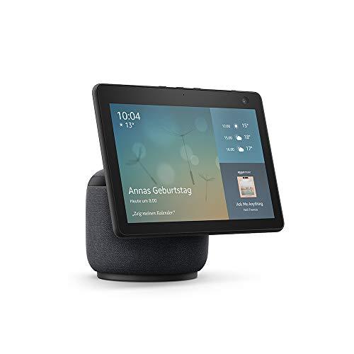 Echo Show 10 (3. Generation) | Hochauflösendes Smart Display mit Bewegungsfunktion und Alexa, Anthrazit