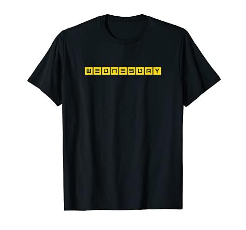 Wednesday Mittwoch. Wochentag Bergfest Jugendwort Design T-Shirt