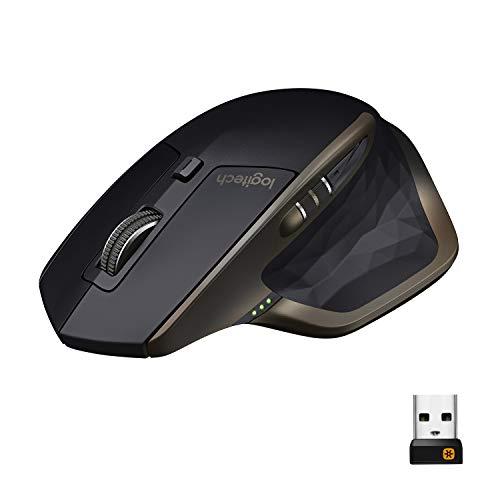Logitech MX Master, Kabellose Maus Amz Exklusiv, Bluetooth/2.4 GHz Verbindung via Unifying USB-Empfänger, 1000 DPI Sensor, Wiederaufladbarer Akku, Multi-Device, für alle Oberflächen, 5 Tasten, PC/Mac