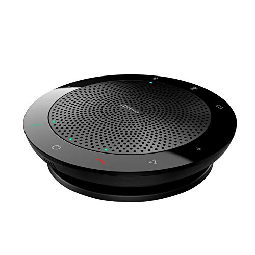 Jabra Speak 510+ Konferenzlautsprecher - Microsoft zertifizierter tragbarer Lautsprecher mit Bluetooth Adapter und USB-Anschluss - Für Laptop, Smartphone und Tablet