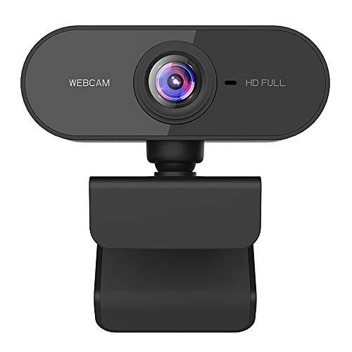 Dewanxin Webcam, USB Full HD 1080P Webcam mit geräuschunterdrückendem Mikrofon PC Laptop Desktop Webkamera mit 360 ° drehbarem Base Plug & Play für Videoanrufe, Live-Streaming, Spiele und Konferenzen