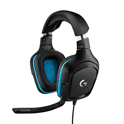 Logitech G432 kabelgebundenes Gaming-Headset, 7.1 Surround Sound, DTS Headphone:X 2.0, Bügelmikrofon mit Flip-Stummschaltung, Ohrpolster mit Kunstleder, PC/Mac/Xbox One/PS4/Nintendo Switch - Schwarz