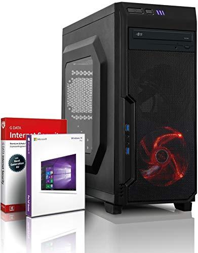 Ryzen7 Gaming PC mit 3 Jahren Garantie! AMD Ryzen7 2700 16-Thread Prozessor, 4.1 GHz | 16GB DDR4-3000 | 256 GB SSD + 1 TB HDD | Geforce GTX 1650 4 GB DDR6 | DVD | Win10 Pro | WLAN | MS Office #6457