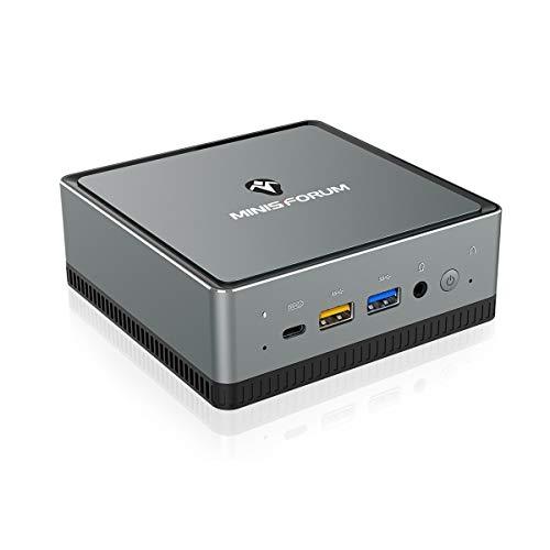 Mini PC, AMD Ryzen 7 3750H Prozessor Vierkern aufrüstbarer 16 GB DDR4 / 512GB SSD Mini Desktop Computer mit Windows 10 pro, HDMI, DP und USB C- Anschluss, Dual Band WiFi, BT 5.1, USB 3.1 * 4