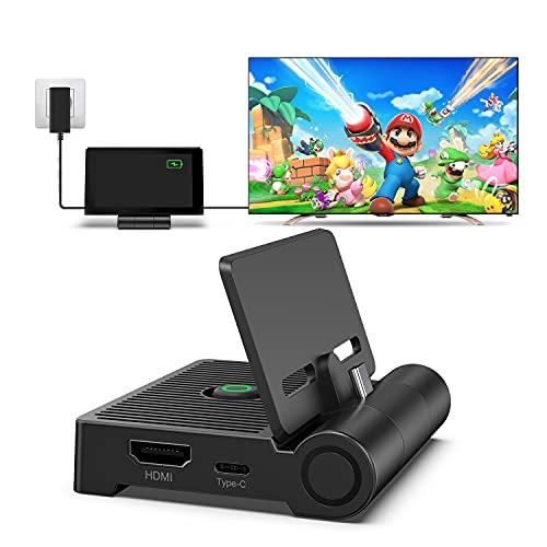 Switch TV Dock für NS Switch/Switch OLED, innoAura Switch Docking Station mit Faltbarem und Tragbarem Design, HDMI, Typ-C und USB 3.0 Grenzfläche