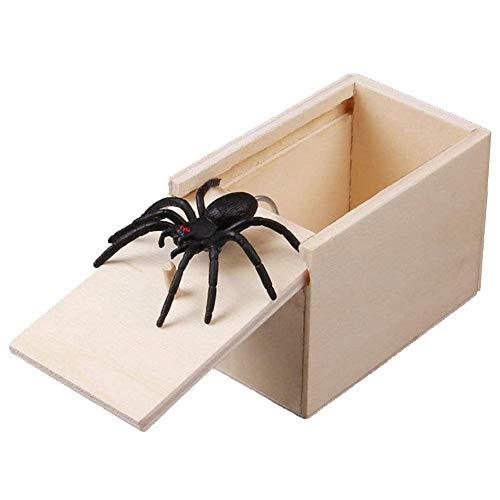 Klinkamz 1 Stücke Holz Streich Spinne Scare Box Fall Witz Lebensechte Lustige Überraschung Gag Spielzeug