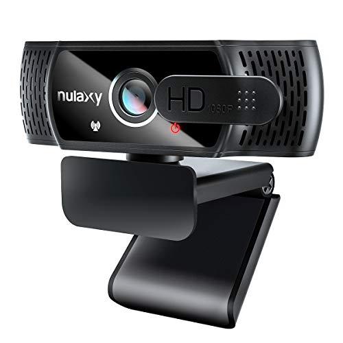 Nulaxy C900 Webcam mit Mikrofon, FHD 1080P Webcam mit Abdeckung, Webcam USB Plug & Play, Laptop PC Kamera für Video-Streaming, Konferenz, Spiele, Kompatibel mit Windows/Linux/Android