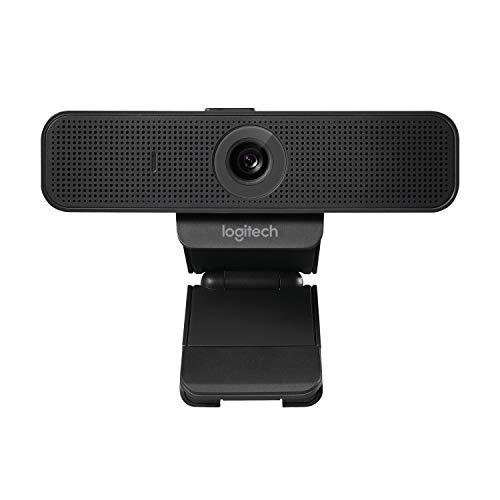 Logitech C925e Business-Webcam, HD 1080p, 78° Blickfeld, Autofokus, RightLight 2 Technologie, Abdeckblende, 2 Stereomikrofone, Für Skype Business, WebEx, Lync, Cisco, etc., PC/Mac - Schwarz