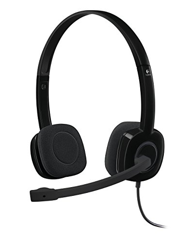 Logitech H151 Kopfhörer mit Mikrofon, Stereo-Headset, Verstellbares Mikrofon mit Rauschunterdrückung, Lautstärkeregelung und Stummschaltung am Kabel, 3,5mm Klinke, PC/Mac/Laptop/Tablet/Smartphone