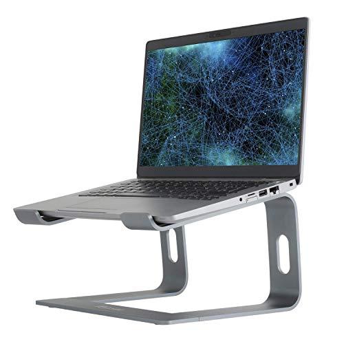 Laptop ständer: Konsol Ergonomisch Notebook Ständer, Demontierbar, Tragbarer, Riser Kompatibel mit Laptop (10 inch~15.9 inch) MacBook Pro/Air, HP, Dell, Lenovo, Samsung, Acer, Huawei (Grau)