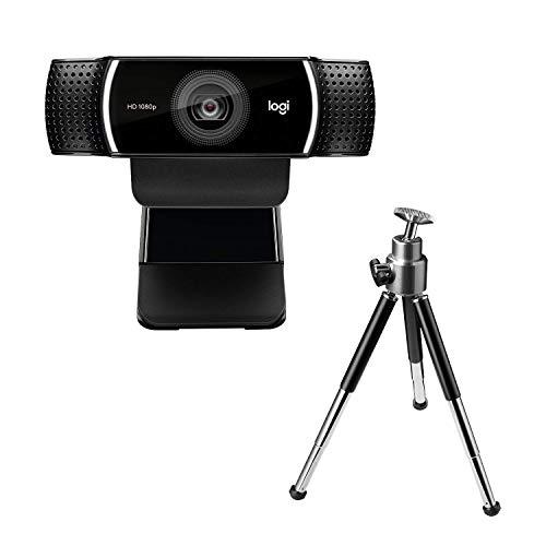 Logitech C922 PRO Webcam mit Stativ, Full-HD 1080p, 78° Sichtfeld, Autofokus, Belichtungskorrektur, H.264-Kompression, USB-Anschluss, Für Streaming via OBS, Xsplit, etc., PC/Mac/ChromeOS/Android