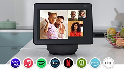 Der neue Echo Show 10 (3. Generation)   Hochauflösendes Smart Display mit Bewegungsfunktion und Alexa, Anthrazit