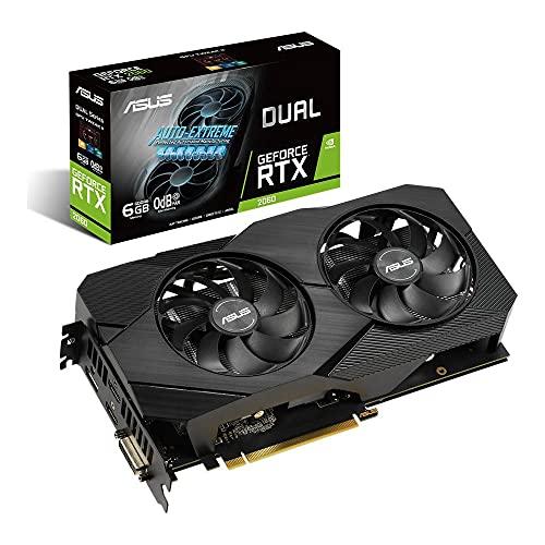 ASUS Dual Nvidia GeForce RTX 2060 6GB EVO Gaming Grafikkarte (GDDR6 Speicher, PCIe 3.0, 1x HDMI 2.0b, 1x DVI, 1x DisplayPort 1.4, DUAL-RTX2060-6G-EVO)