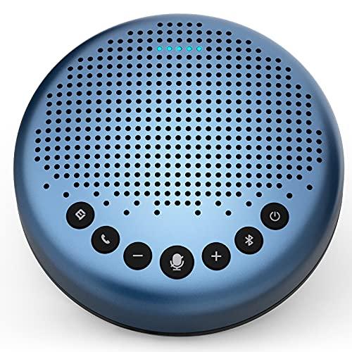 eMeet Bluetooth Konferenzlautsprecher - Luna Lite USB Freisprecheinrichtung für 5-10 Personen, Speakerphone 360° Spracherkennung, für Zoom, Skype, VoIP-Kommunikation PC, Skype for Business usw.