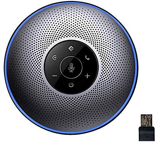 eMeet Bluetooth Konferenzlautsprecher - USB Freisprecheinrichtung für 5-8 Personen Business Konferenz 4 AI-Mikrofon 360º Spracherkennung, mit Dongle, für Zoom, Skype, VoIP-Kommunikation PC usw.