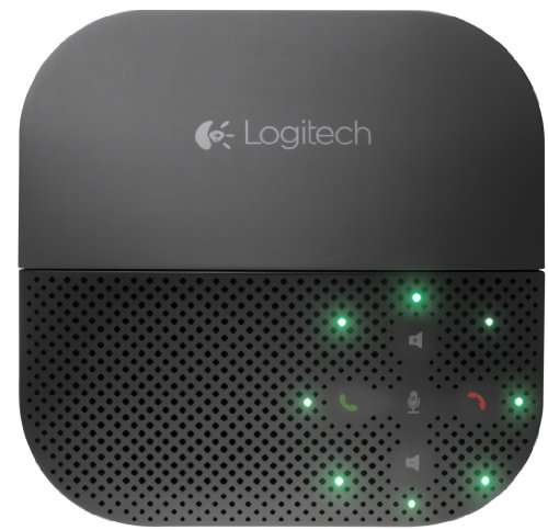 Logitech P710e Speakerphone Kabellose Freisprecheinrichtung, Lautsprecher mit Bluetooth- & NFC-Verbindung, Mikrofon mit Rauschunterdrückung, Multi-Device, 15-Stunden Akkulaufzeit, PC/Mac/Handy/Tablet